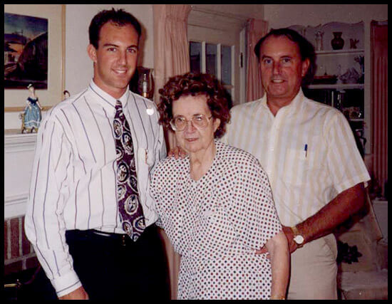 David W. Jacobs with his Mother, Dolores and Chris, his Son